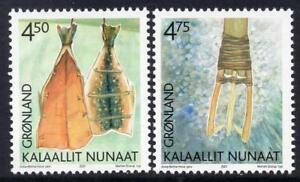Greenland 2001 Culture Heritage, Fish, Tool,  (2nd series), UNM / MNH