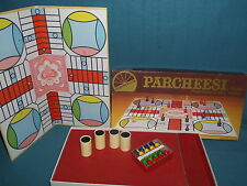 GAMES VINTAGE WOODEN PARCHEESI  BY SELCHOW & RIGHTER CO. 1982 no.2 GAME