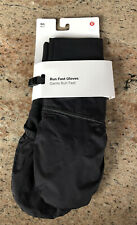 NWT Lululemon M/L Run Fast Gloves Mittens BLK Black  2 4 6 8 10 12 — $42