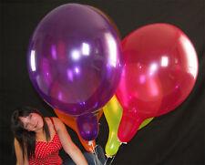 """5 x RIESEN TUFTEX 17"""" Luftballons *GEMISCHTE KRISTALLFARBEN*TUF-TEX*"""