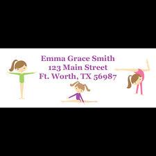 30 Personalized Return Address Labels - Gymnastics