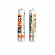 2 AAA 3A 1350mAh rechargeable battery NiMH 3A UltraCell Silver