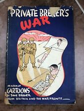 More details for private bregers war ! signed copy by dave breger with a cartoon drawn face