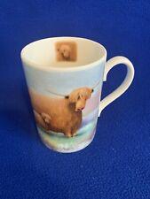 Highland Cow & Nessie Portmeirion Bone china mug by Rob Scotton
