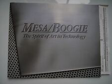 MESA BOOGIE 1990's ILLUSTRATED AMPLIFICATION BROCHURE 32 PAGES 27 x 22cm