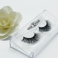 3D Real Mink Black Soft Long Natural Thick Curling False Eyelashes Eye Lashes UK