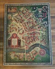 ORIGINAL Vintage 1935 Pictorial Map Harvard University Radcliffe College RARE