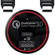 BC Master Rápido Cargador De Coche & Cable USB tipo C-Samsung Galaxy S8 S8 más otros
