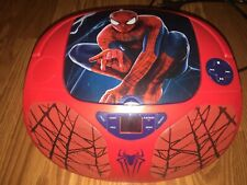 Marvel Spider-Man AM/FM Radio CD Player Good Working Condition Portable