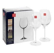 2 x 640cc RCR Bordeaux Red White Wine Tasting Glasses Luxion Crystal Glassware