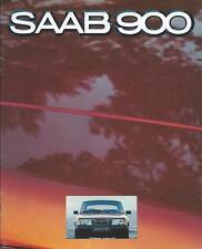 SAAB 900 BROCHURE GAMMA mercato britannico 1979 include EMS GLE GLS Turbo 40 pagine