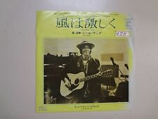 """NEIL YOUNG: Four Strong Winds- Human Highway-Japan 7"""" 1980 Reprise P-415R DJ PSL"""