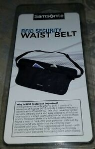 Samsonite RFID Security Travel Waist Belt Pouch Protect Your Identity Fanny Pack