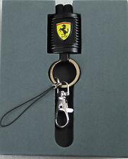Ferrari Brandon Lanyard Motorteil Ausweistasche Schlüsselanhänger schwarz NEU