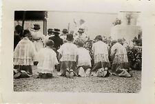 PHOTO ANCIENNE - VINTAGE SNAPSHOT-RELIGION PROCESSION ROCAMADOUR ENFANT DE COEUR