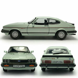 1:24 Scale Vintage Ford Capri Coupe 1982 Model Car Diecast Toy Collection Green