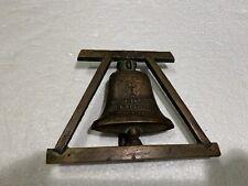 New listing Brass Door Knocker Fecit Benitus A Recibus Ano D 1830 Latin Mission Cross