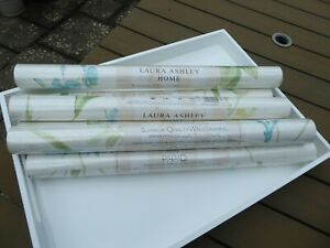6 NEW ROLLS OF LAURA  ASHLEY WALLPAPER ORCHID APPLE - SAME BATCH NUMBER