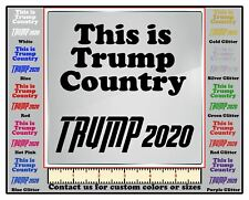 DecalDoggy - This Is Trump Country Vinyl Decal Car / Wall