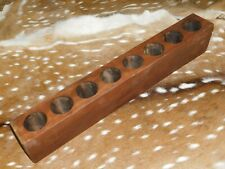 8 Hole Wooden Sugar Mold Wood Candle Holder Primitive Rustic Home Decor