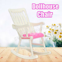 Plastic Room Dollhouse Nursery Miniature Furniture Rocking Chair For Doll