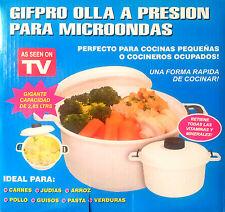 OLLA A PRESION PARA MICROONDAS GIFPRO cocina rapida sano verduras carnes