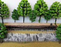 HO Scale Custom Painted Weathered Train Wabash Flat Car