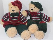 TB Trading Company BOY AND GIRL CHRISTMAS TEDDY BEARS Weighted Stuffed Plush