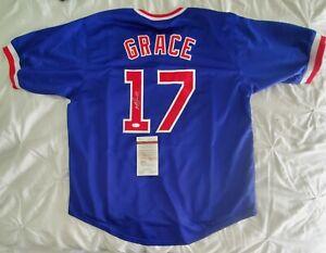 Mark Grace Signed autographed custom Chicago Cubs Jersey JSA COA size XL