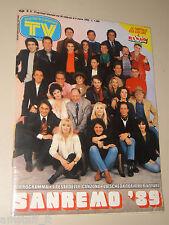 TV SORRISI CANZONI=1989/9=FESTIVAL DI SANREMO SPECIALE=MIA MARTINI=PAOLO CONTE=