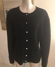 New listing Anne Klein Vintage Black Sweater/ Cardigan with Rhinestones Chic and Elegant