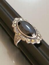 Marcasite Sterling Ring Vintage Uncas Hematite
