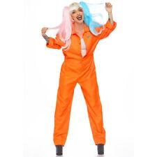 Womens Orange Prison Jumpsuit Costume size 4-12