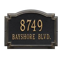 Whitehall Williamsburg Raised Plaque Address House Numbers Custom sign wall