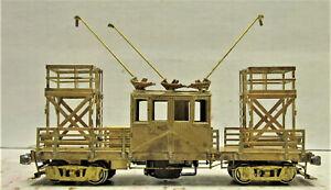 SUYDAM & CO. MODEL #00150 WIRE GREASE-TOWER CAR HO SCALE (BRASS)