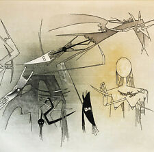 Wifredo LAM Visibile invisibile 1971 original hand signed engraving aquatint