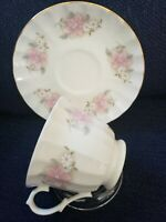 Crown Trent  Fine Bone China Teacup And Saucer set.  Made In England.