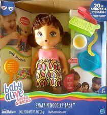 Baby Alive spuntino Noodles Baby BRUNA Bambola Interattiva-Nuovo In Magazzino