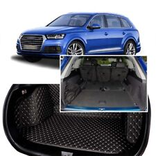 1Set Black Rear Trunk Cover Cargo Mats Seat&Floor Protector For Audi Q7 06-2019