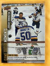2018-19 UD Game Dated Moment Blues JORDAN BINNINGTON Rookie Record Playoff Wins