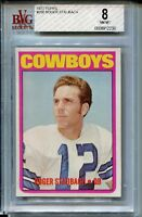 1972 72 Topps Football #200 Roger Staubach Rookie Card RC Graded BVG Nm Mint 8