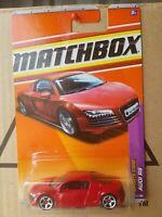 Matchbox 2010 - AUDI R8 [RED] SPORTS CAR SERIES VHTF NEAR MINT