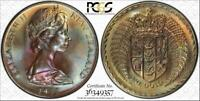 1973 NEW ZEALAND $1 DOLLAR BU PCGS MS66 COLOR TONED COIN ONLY 3 GRADED HIGHER