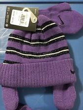 fd3b3a9c4b0c0 Nike Toddler Girls Beanie Hat and Mitten Set Purple 2t to 4t