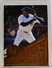 2000 Danbury Mint Bernie Williams 1999 Yankees Championship 22KT Gold Card #1
