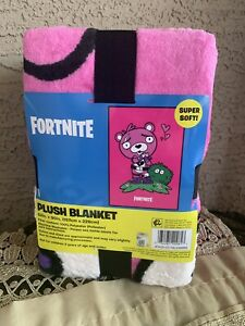 "NEW Fortnite Cuddle Team Leader Plush Blanket  Plush Soft 62"" X 90"""