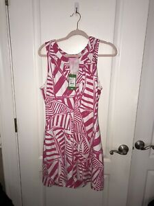 Lilly Pulitzer Estrada sleeveless dress Capri Pink Yacht Sea Ret $138