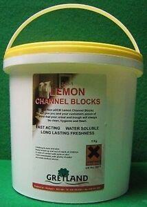 Channel Blocks - Lemon (3Kg) Urinal Blocks, Washroom Cleaning