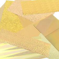 Foiling kit: starter, taster selection pack of gold rub on foils - card craft