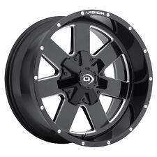"17"" Vision 411 Arc Black Milled Wheel 17x9 6x135 6x5.5 -12mm 411-7993MS-12 Rim"